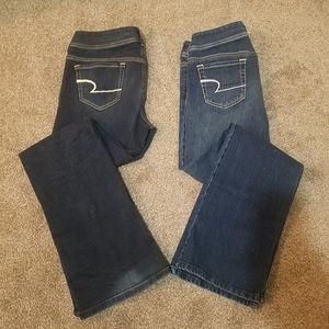 3 Pair Women's blue jeans sz 10